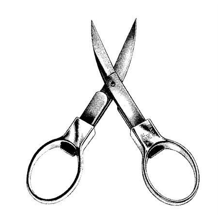 Slip-N-Snip 1 Folding Scissors with Chrome Plated Handle – Additional Image #2