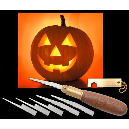 Warren 3 Pro Pumpkin Wooden Carving Tool Set with Black Walnut Handle – Additional Image #1