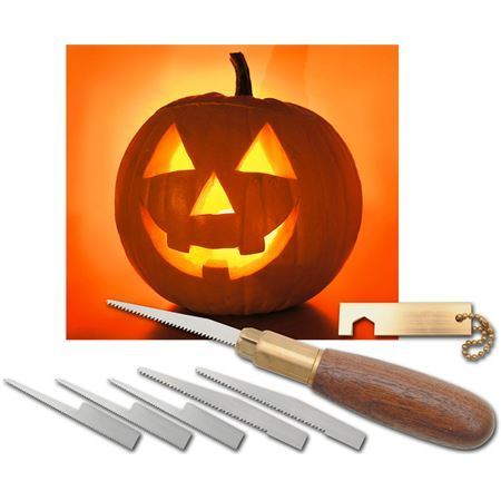Warren 3 Pro Pumpkin Wooden Carving Tool Set with Black Walnut Handle – Additional Image #2