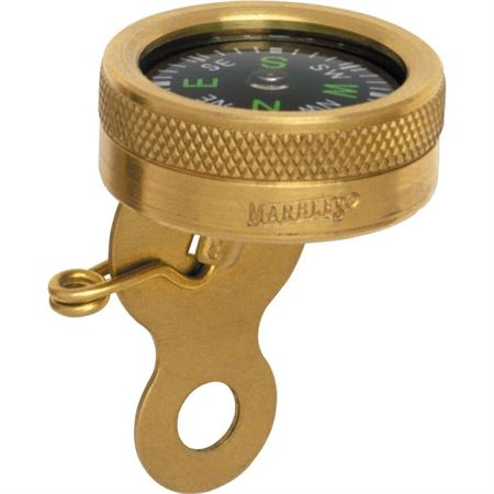 Marbles 1141 Pin-On Survival Navigation Compass with Revolving Luminous Dial