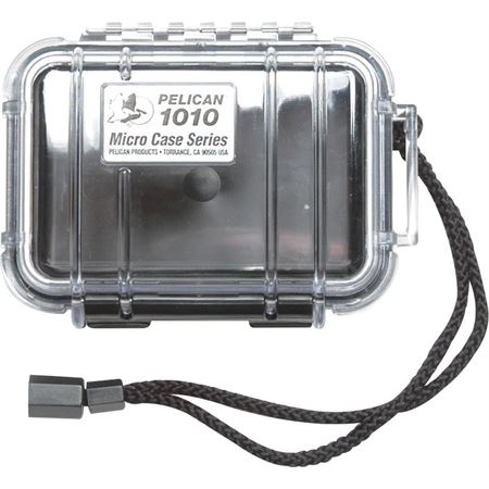 Pelican 1010C Clear Surival Micro Case Series with Padded protective Liner