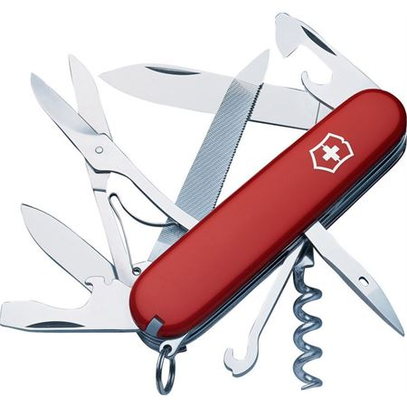 Swiss Army 54821 Mountaineer Red Folding Pocket Knife With