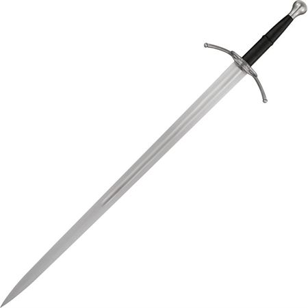 Paul Chen 2454 Rhinelander Bastard Sword with Black Leather Wrapped Handle