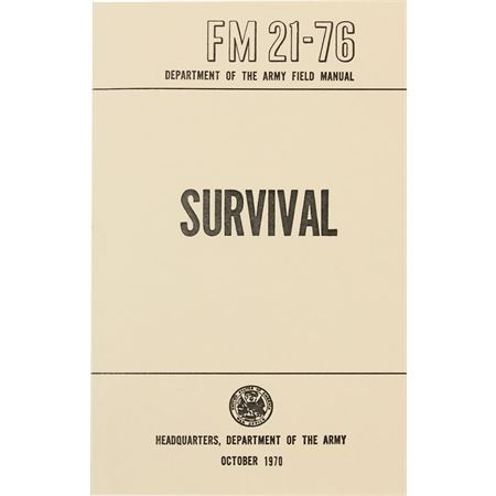 BK 201 BK201 BK-201 Books Survival knife knifes cutlery Headquarters - Department of the Army. 288 page paperback. Includes sections on Individual and Group survival; health and first aid; orientation and traveling; wate