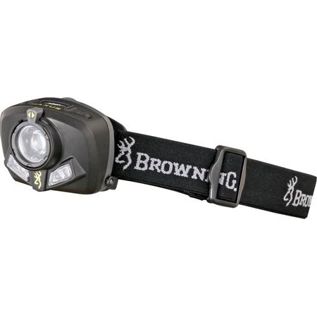 BR 3329 BR3329 BR-3329 Browning Pro Hunter Maxus LED Headlamp knife knifes cutlery 2 5/8 inch x 2 1/8 inch. Black housing. Cree LED with four settings: high, medium, low and flashing. Features focus control beam. High setting: u