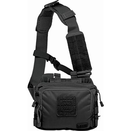 5.11 Tactical 56180 2 Self Healing Zippers Banger Bag Black with Nylon Construction