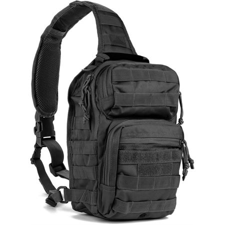 Red Rock 80129BLK Rover Sling Pack Black with 600 Denier PVC Lined Construction