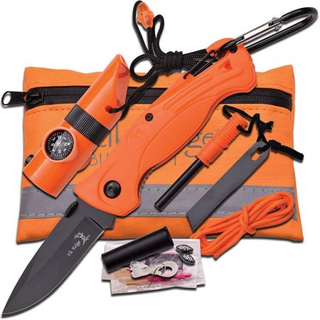 Elk Ridge PK4 Survival Kit Framelock Folding Pocket Knife