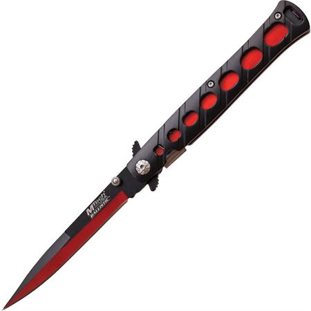MTech 317RD Stiletto Red Assisted Opening Stiletto Linerlock Folding Pocket Knife