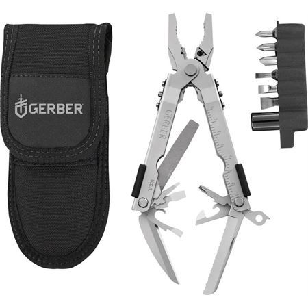 Gerber Knives - Blunt Nose Pliers W/Tool Kit Model: G7510G. Closed: 4 7/8