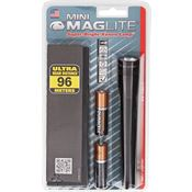 Maglite 06052 5 3/4inch Mini Survival Maglite AA with Black Aluminum Construction