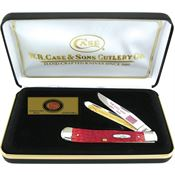 Case 1861RPB CSA Trapper Folding Pocket Knife with Red Pick Bone Handle