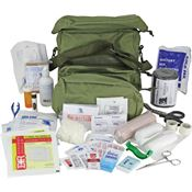 First Aid Kits 108 First Aid M-3 Medic Shoulder Bag with Olive Drab Nylon Construction