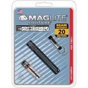 Maglite K3A016 Black   Solitaire AAA Hang Pack