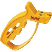 AC 60 Knife and Scissors Sharpener with Yellow Plastic Handle