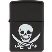 Zippo Lighters 05911 Jolly Rogers Logo Zippo Lighter with Black Matte Finish