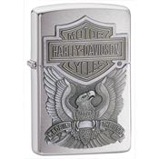 Zippo Lighters 16284 Harley Davidson Zippo Lighter with Brushed Chrome Finish