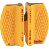 AC 87 Two Step Knife Sharpener with Yellow Plastic Construction