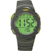 Uzi 89R Guardian Watch with Black Rubber Wrist Strap