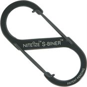 Nite Ize 00738 Black S-Biner with Stainless Steel Construction