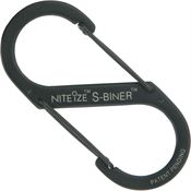 Nite Ize 00739 Black S-Biner with Stainless Steel Construction