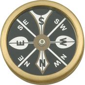 Marbles 223 1 3/4 Inch Large Pocket Brass Body Compass
