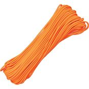 Parachute Cords 105H Neon Orange Nylon Construction 100 ft. Length Parachute Cord