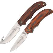 Elk Ridge Knives 013 Two Piece Hunting Set with Laminated Wood Handles
