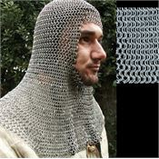Get Dressed For Battle 2547 Full Mantle & Square Face Coif with Butted Construction