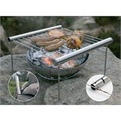 Grilliput 42001 Camp Grill With Durable Stainless Construction