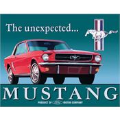Tin Sign 0579 Ford Mustang Rich Vibrant Colors and Heavy Embossing Tin Sign