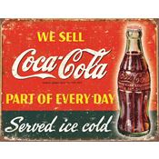 Tin Sign 1820 Coca Cola Part of Every Day Rich Vibrant Colors and Heavy Embossing Tin Sign