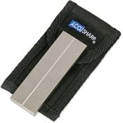 AccuSharp Sharpeners 027C Diamond Pocket Stone with Black Belt Pouch