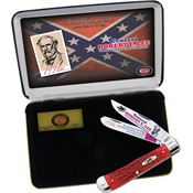 Case REL General Robert E. Lee Trapper Folding Pocket Knife with Red Jigged Bone Handle