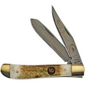 Hen & Rooster Knives 212DSDM Damascus Trapper