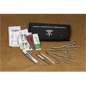 Elite First Aid Kits 80122BK First Aid Kit Field Surgical Kit with Black Canvas Pouch