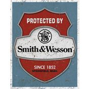 Tin Sign 1682 Tin Sign Protected By S&W