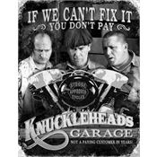 Tin Sign 1687 Stooges Knuckleheads Garage