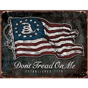 Tin Signs 1873 Don''t Tread on Me Vintage Flag