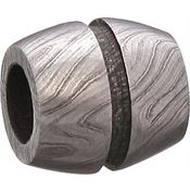 Grindworx 23 Damascus Bisect Groove Bead