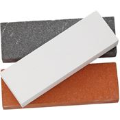 Rough Rider 3000 3pc Sharpening Stone Gray, Brown and White Set