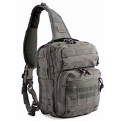 Red Rock Outdoor Gear 80129TOR Red Rock Outdoor Gear Rover Sling Pack Tornado Gray Measure with Style Carry Handle