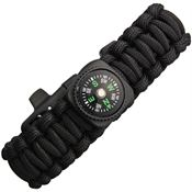 Explorer Compass 61 Paracord Bracelet with Compass Black
