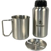 Pathfinder H006 32 Oz Bottle and Nesting Cup Set with Stainless Steel Construction