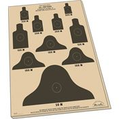 Rite in the Rain 9127X 25m Target Sheets M16A1 10