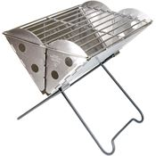 Grilliput 00232 Mini Flatpack Portable Grill with Stainless Steel Construction