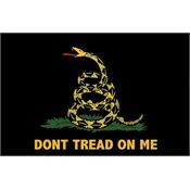 Flags 7254 3 x 5 Feet Don't Tread On Me Black Gadsden Flag