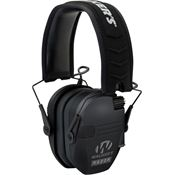 Walkers Game Ears 01302 Black Razor Slim Electronic Muff with Adjustable Headband