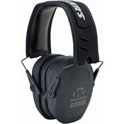 Walkers Game Ears 01473 Black Razor Slim Passive Muff with Adjustable Headband