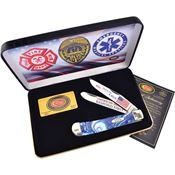 Case BC1ST American Hero Trapper Folding Pocket Knife with Blue Smooth Corelon Handle